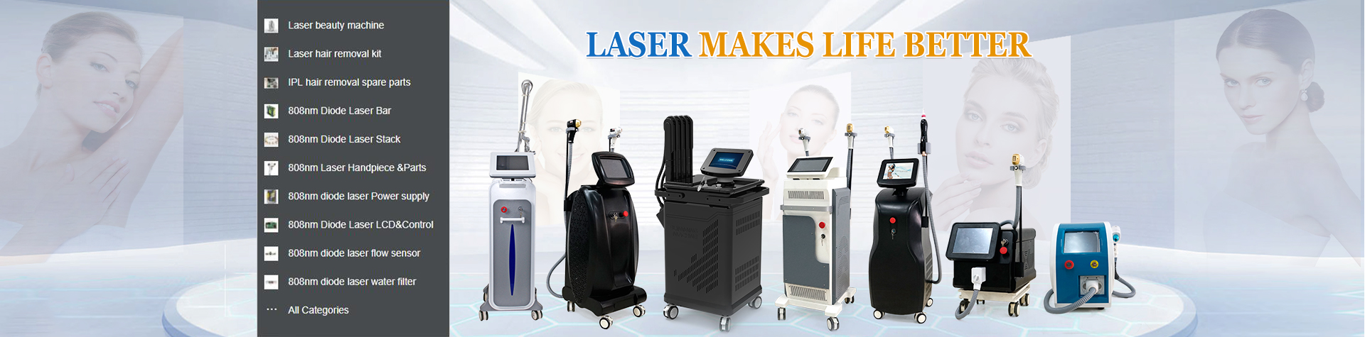 Laser beauty machine